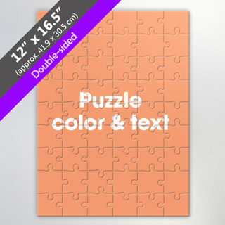 Double Sided Custom Puzzle For Puzzle Maker