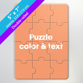 Design Own Two Sided Puzzle For Gift