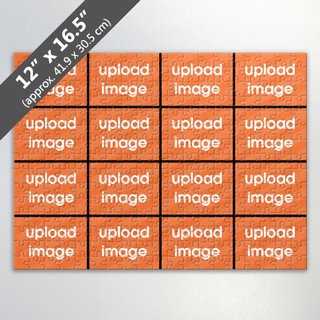 Jigsaw Puzzle With Thin Black Border And 16 Photos