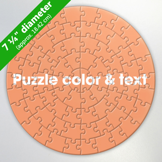 Customized 7.25 inch Circular Puzzle (26 or 72 pcs)