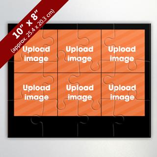 Custom 6 Frame Custom Photo Puzzle
