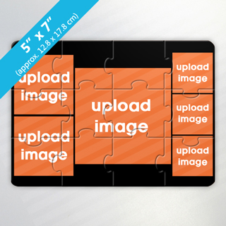 Create Own 6 Photo Puzzle Card With Black Border
