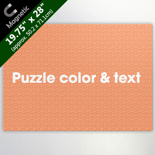 Personalized Large Magnetic Puzzle With Messages