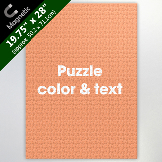 Make Own 19.75X28 Inch Magnetic Puzzle With Background Color And Text
