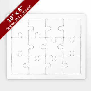 Blank 8X10 Tray Puzzle (12 Pieces)