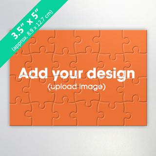 3.5 x 5 inch custom photo jigsaw