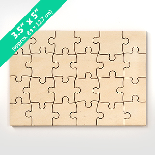 Blank 3X5 Wooden Invitation Puzzle 24 Pieces