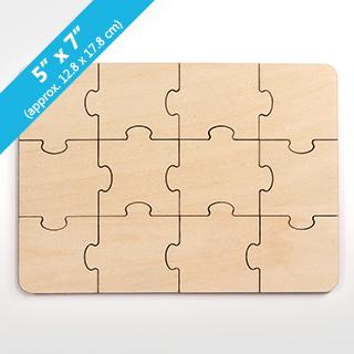 Plain Blank Invitation Puzzle 12 Pieces
