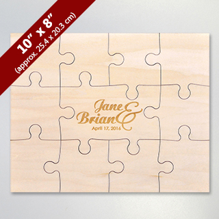 Personalized Laser Engraved Wood Puzzle