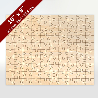 Blank 8X10 Wooden Puzzle With 100 Pieces