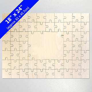 Blank 18X24 59 Pieces Wooden Guest Book Puzzle