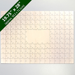 Blank Large Guest Book 151 Pieces Wooden Puzzle