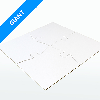 Giant Blank Wooden Puzzle Pieces