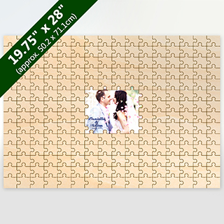 Custom Printed Middle Guest Book Wooden 209 Pieces