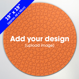 Custom 19 inch Round Puzzle 300 pcs